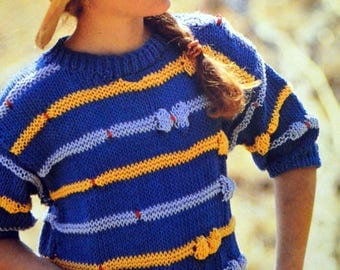 Tutorial summer sweater for girl