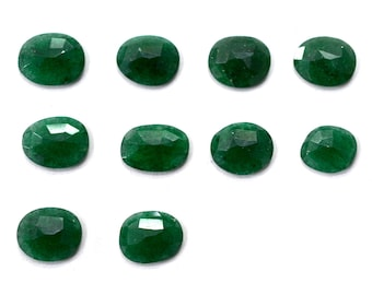 AVENTURINE Natural Green Aventurine Rose Cut Polki Both Side Faceted 7mm to 12mm (Approx) Price per 1 piece