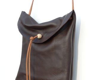 RANTA Brown Deer leather bag