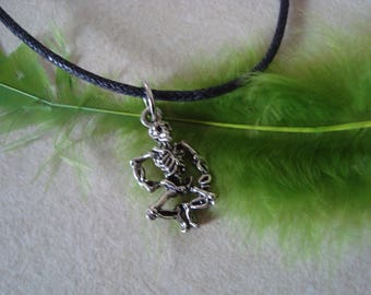Boy silver skeleton pendant necklace