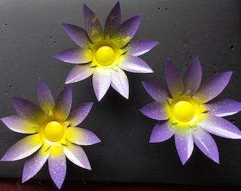 Recycled Soda Can Metal Flowers 25cm X 25cm x 3