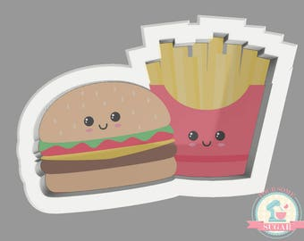 Burger and Fries Cookie Cutter