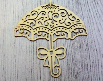 Umbrella 1122 lace wood for your creations
