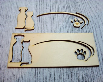 Cat 1293 embellishment wooden creations