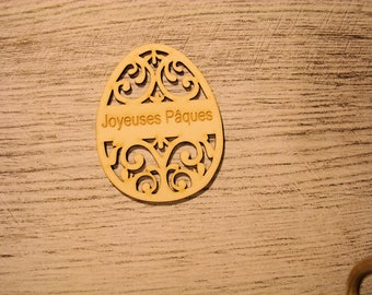 This engraved egg 1195 embellishment wooden creations