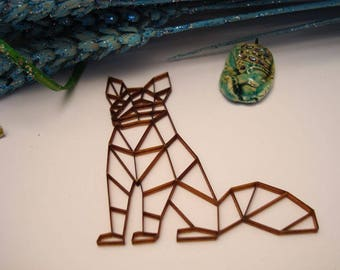 Fox origami 02047 embellishment wooden creations