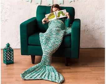 Mermaid Blanket Crochet Pattern - Crochet Pattern for Mermaid - Bulky & Quick Mermaid Blanket Crochet PATTERN by MJ's Off The Hook Designs