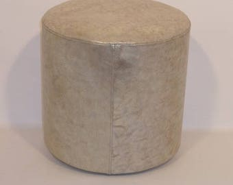Pouf 5000 marbled gold color leather