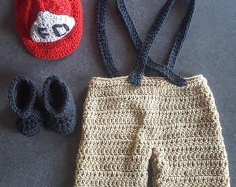 Crochet Fireman Outfit