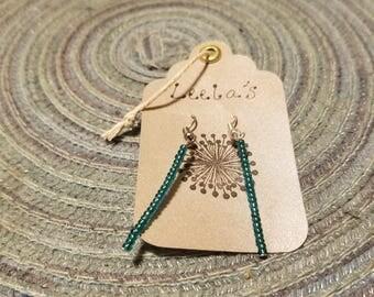 Handmade glass beaded earrings