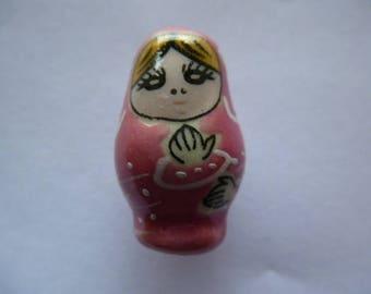 Pearl Rose creations porcelain Russian Matryoshka doll