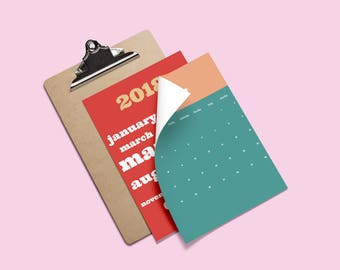 2018 Mid Century Printable Calendar