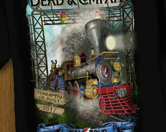 Dead and Company Fall Tour 2017 Terrapin Station T Shirt Direct to Garment Black