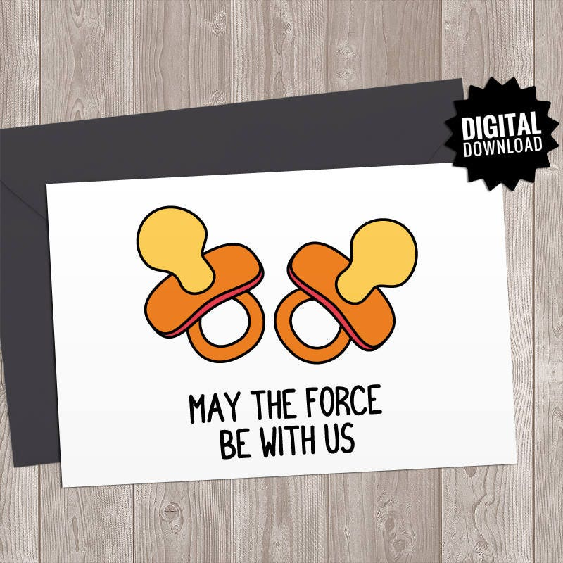 Funny new baby twins card printable twins reveal announcement sarcastic humor newborn arrival card