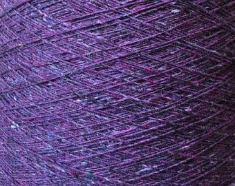 Tweed yarn Donegal Galanta Knitting Yarn per 100g Merino Cashmere Silk Machine Hand knitting Knollyarns Purple yarn color 1610 Purple Heart