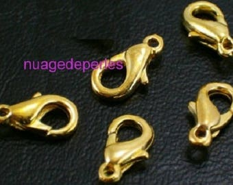 5 10mm lobster clasps