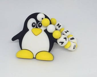 Penguin silicone teething ring