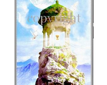 La tour du Graal fond d'écran pour ipod ou ordinateur création unique sur le thème féerique.