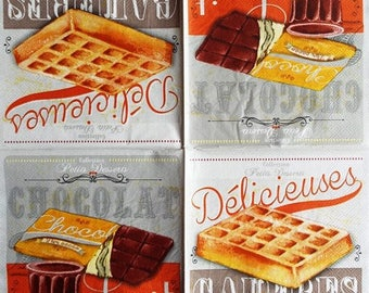 TOWEL in waffle paper and #AL082 milk chocolate