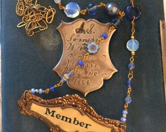 Vintage Blues Member Necklace