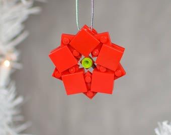 Lego Christmas Ornament - Poinsettia