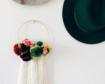 Pom Pom Polly Wall Hanging || Boho Eclectic Home Decor