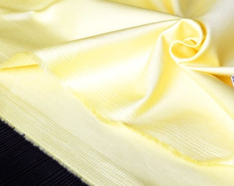 Cotton sateen fabric heavy stretchy yellow x 45cm