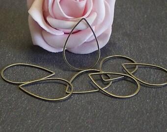 x 20 rings closed drops 25 x 17 mm COB184 bronze copper