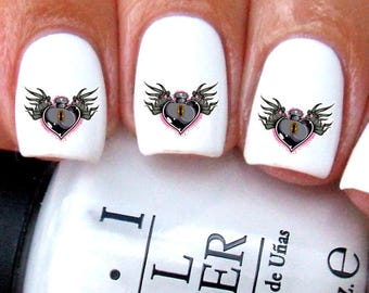 Heart Nail Decals