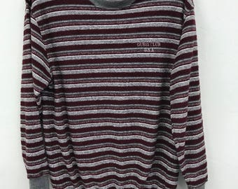 Vintage Guess Stripes Design Asap Rocky Multicolour Sweatshirt Guess USA