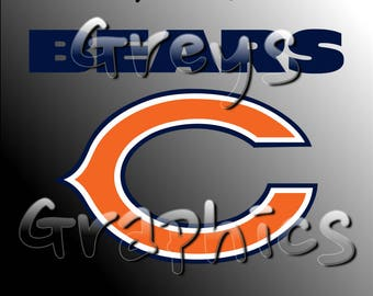 Chicago Bears Primary Logo with Logotype Full Color - SVG - DXF - EPS - Vectors