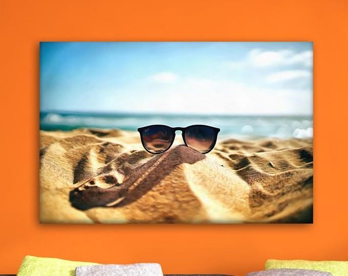 Santa Monica beach canvas, California poster, USA Poster, beach print, Interior decor, print poster, USA picture, art picture, gift