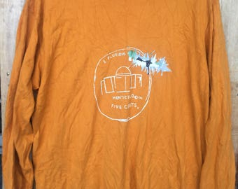 RARE!!! Jean Michel Basquiat PopArt Big Logo Spell out T-Shirts XL Size