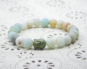 BUDDHA bracelet amazonite