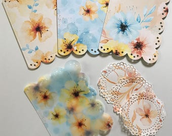 Watercolor Fall Flower Dashboard Set