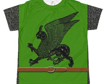 Green Griffon Medieval Surcoat Kid's T-Shirt