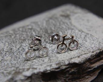 Bicycle Bike bicycle Earrings Earrings Sterling Silver Filigree