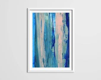 Vertical Paint Strokes Print