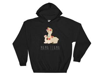Mama Llama Hoodie Sweatshirt