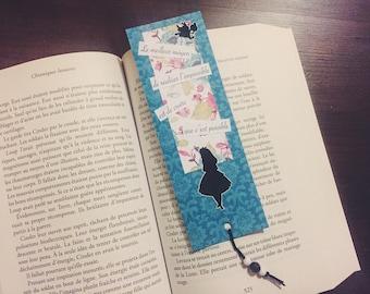 Bookmark Alice Wonderland country
