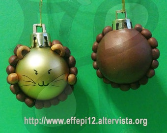 Balls to decorate the Christmas tree with Lion