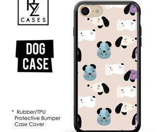 Dog Phone Case, Cute Dog Phone Case, Dog iPhone Case, iPhone 7, Animal, Dog Lover, Gift for Her, iPhone 7 Plus, iPhone 6S, Rubber, Bumper
