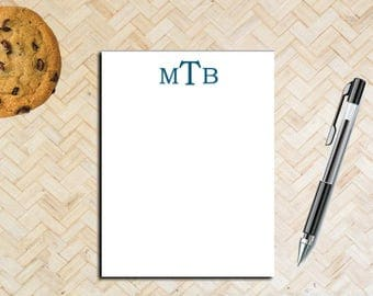 Personalized Monogrammed Notepad / Small Notepad with Monogram / Personal Notepad / Custom Notepad / Monogram / Professional Notes /Note pad