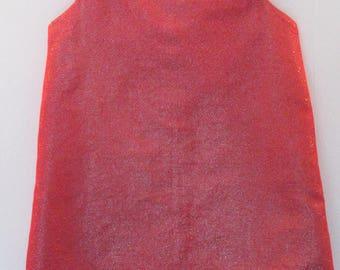 A-Line Red Dupion Silk Dress