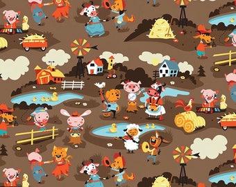 Harmony Farm, Fabric by the Yard 100% Cotton Fabric Kids Fabric Childrens Fabric Quilt Fabric Cotton Fabric Riley Blake Fabric Yardage