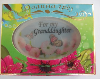 for the granddaughter, a gift for the daughter, a gift from the grandmother,soap, a gift for the girl,soap with a photo,soap.