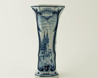 Vintage delft blue vase - Delft - Blue and White - the Netherlands- Holland