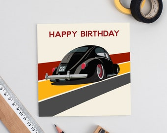 Bug Life V-Dub Birthday Card