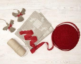 100% Linen Tea Towel Mooses, Linen Kitchen Towel