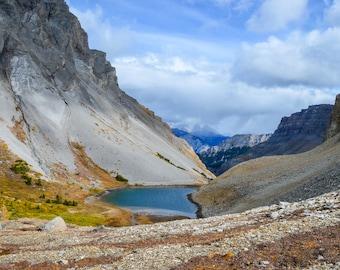 Mountains, scenic, banff, canada, view, landscape photo, landscapes, digital download